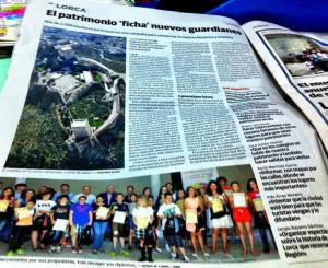 Noticia en el Diario de tirada Regional La Verdad, del viernes 21 de junio